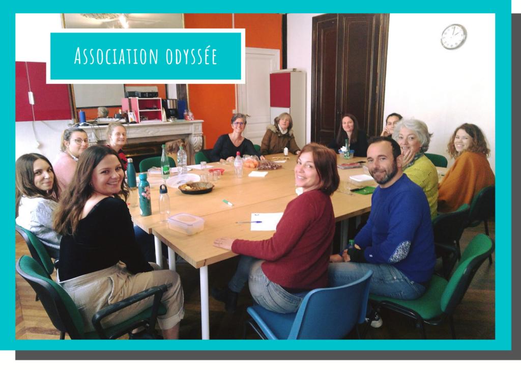 Equipe Association Odyssée, membres conseil d'administration, bénévoles, volontaires, permanants