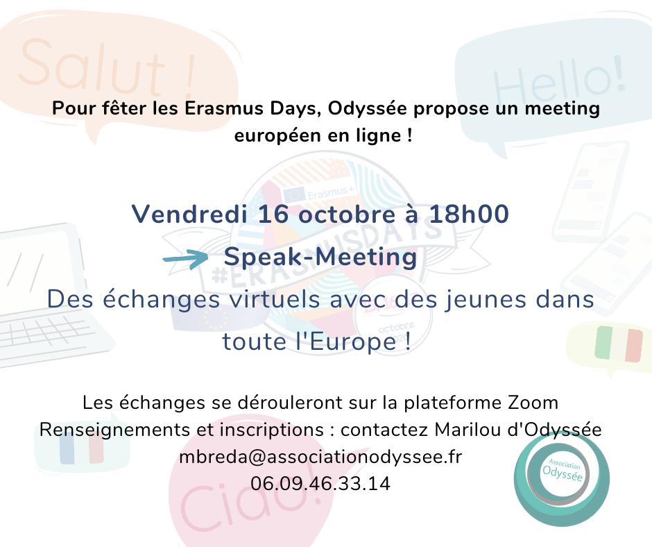 erasmus days odyssée association bordeaux meeting interculturel europe européen jeune